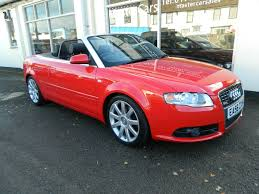 convertible audi red used audi a4 convertible for sale motors co uk