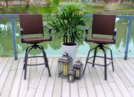 patio bar furniture sets amazon com outdoor wicker swivel patio bar stools 2 patio