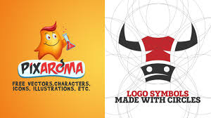how to make logo symbols from circles sketch to vector process