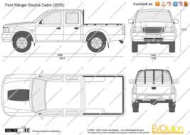 Cabin Blueprint The Blueprints Com Vector Drawing Ford Ranger Double Cabin
