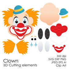 header3 png crafts in the barn clown book circo clown faces