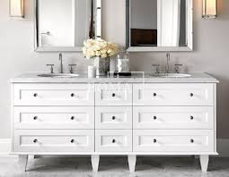 Marble Top Bathroom Cabinet Wholesale Carrara White Marble Top Modern Double Vessel Glass Bowl