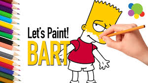 bart simpson coloring pages easy on colors coloring pages for