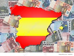 Spain Map Map And Flag Of Spain With Euros Stock Illustration I1647810 At