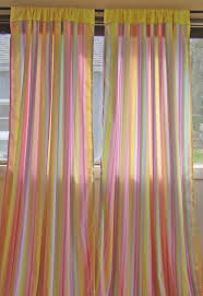 Yellow And Purple Curtains Striped Pastel Rainbow Pink Yellow Blue Green Purple Drape