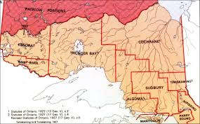 Map Of Ontario Canada by The Changing Shape Of Ontario The Evolution Of The District And