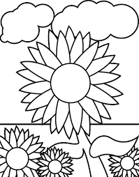 sunflower garden coloring download u0026 print coloring