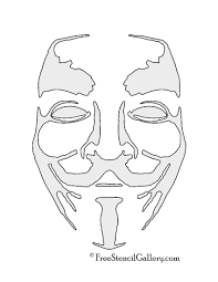Halloween Stencils Free Printable by Anonymous Guy Fawkes Mask Stencil Free Stencil Gallery