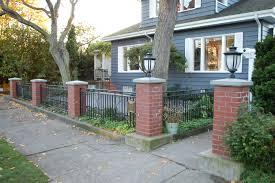 Brick Wall Front Yard Ideasidea - Brick wall fence designs