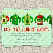 Ugly Christmas Sweater Decorations Ugly Christmas Sweater Party Invitations Blueklip Com