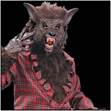 halloween horror decorations werewolf halloween mask brown mad about horror