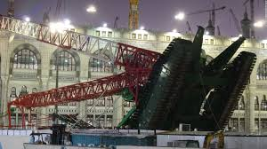 makkah crane fall down hundreds of people died at holy haram of