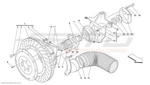 ferrari front drawing ferrari f50 front brake disc and steering knuckle parts at atd