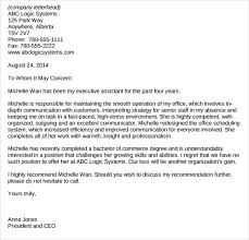 sample administrative assistant reference letter template 8