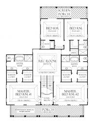 one story floor plans with two master suites baby nursery one story house plans with two master suites one