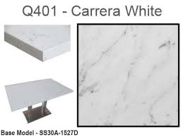 quartz restaurant table tops art marble carrera white quartz tabletop with plywood core 13 sizes