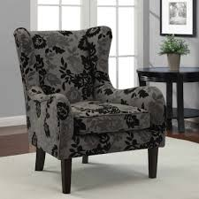 Damask Accent Chair Gray Accent Chair Divano Roma Furniture Classic Scroll Arm Large