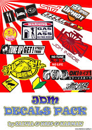 jdm sticker gom team jdm decals decals