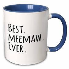 Elegant Coffee Mugs Amazon Com 3drose Best Meemaw Ever Gifts For Grandmothers