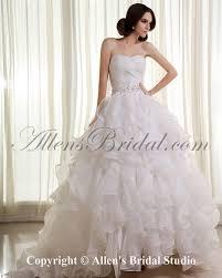 allens bridal organza sweetheart sweep train ball gown wedding