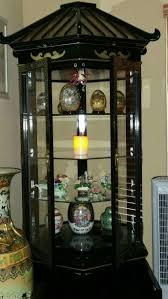 curio cabinet best curio cabinets houston home idea oriental