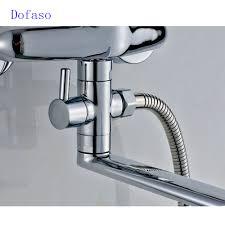 aliexpress com buy dofaso long nose outlet brass shower faucet