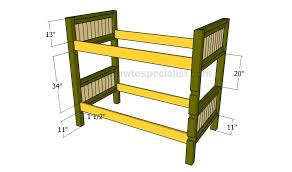 plans build bunk bed ladder woodworking plan directories