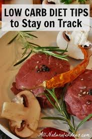 low carb diet tips to stay on track all natural ideas