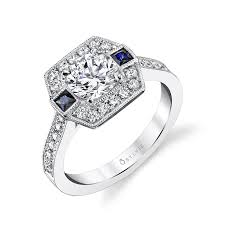 sapphire accent engagement rings sapphire accent engagement ring engagement ring
