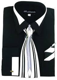 milano moda men u0027s fashion dress shirt with contrast design tie