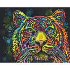 tiger wall sticker decal animal pop art by dean russo