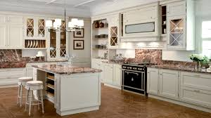 Copper Kitchen Decor by Black Mahogany Cabinet With White Marble Luxury Kitchens Decor