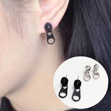 creative earrings 1pair women zipper puller earrings creative style zipper