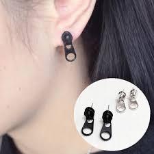 creative earrings 1pair women zipper puller earrings creative style zipper