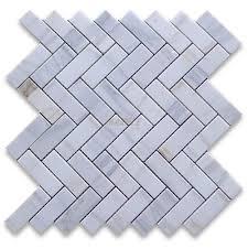 herringbone marble mosaic tiles