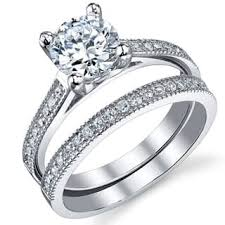 wedding ring set for bridal sets wedding ring sets for less overstock