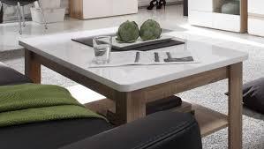 Wohnzimmer Tisch Couchtisch Wohnzimmertisch Rechteckig Eiche Sägerau Weiß