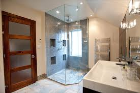 bathroom storage cabinets floor to ceiling curbless shower floor bathroom contemporary with ceiling lighting