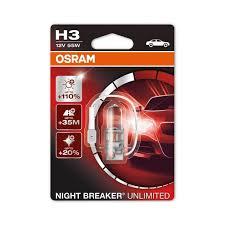 osram night breaker unlimited h3 car headlight bulb powerbulbs