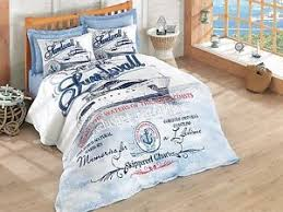 ships nautical bedding single twin size quilted bedspread duvet