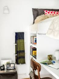 loft with loft beds with desk bedroom contemporary and wooden wall
