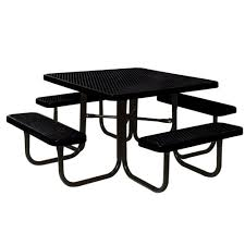 Commercial Table Portable Black Diamond Commercial Park Round Picnic Table Lc5250