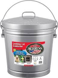 amazon com behrens 6106 6 gallon locking lid can lidded home