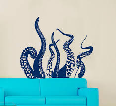 octopus decor octopus tail special designed wall stickers home bathroom cool art