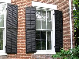 Blinds Outside Of Window Frame When Close Windows With Exterior Shutters For Windows