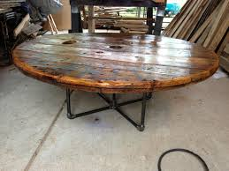 coffee table made from an old cable spool our stuff