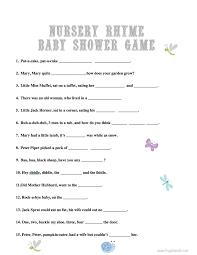 baby shower games nursery rhyme frugal fanatic