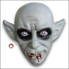 cheap masks factory wholesale cheap pvc handmade fearful ghost vire fangs