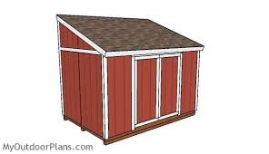 Lean To Pergola Kits by 8x12 Lean To Shed Plans Myoutdoorplans Free Woodworking Plans