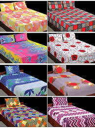 Buy Bed Sheets by Buy Cotton Rich 4 Double U0026 4 Single Bedsheets Combo 4dsbs7